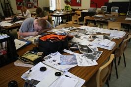 schoolwork mess