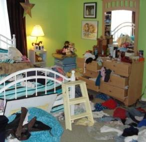 sloppy room